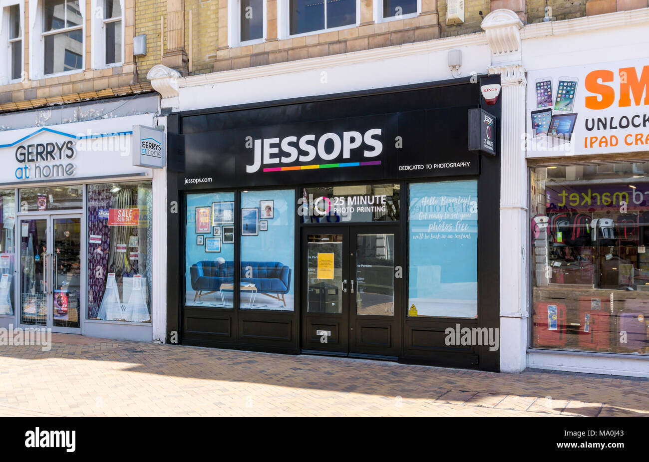 A branch of Jessops photography shops in Bromley High Street, South London. - Stock Image