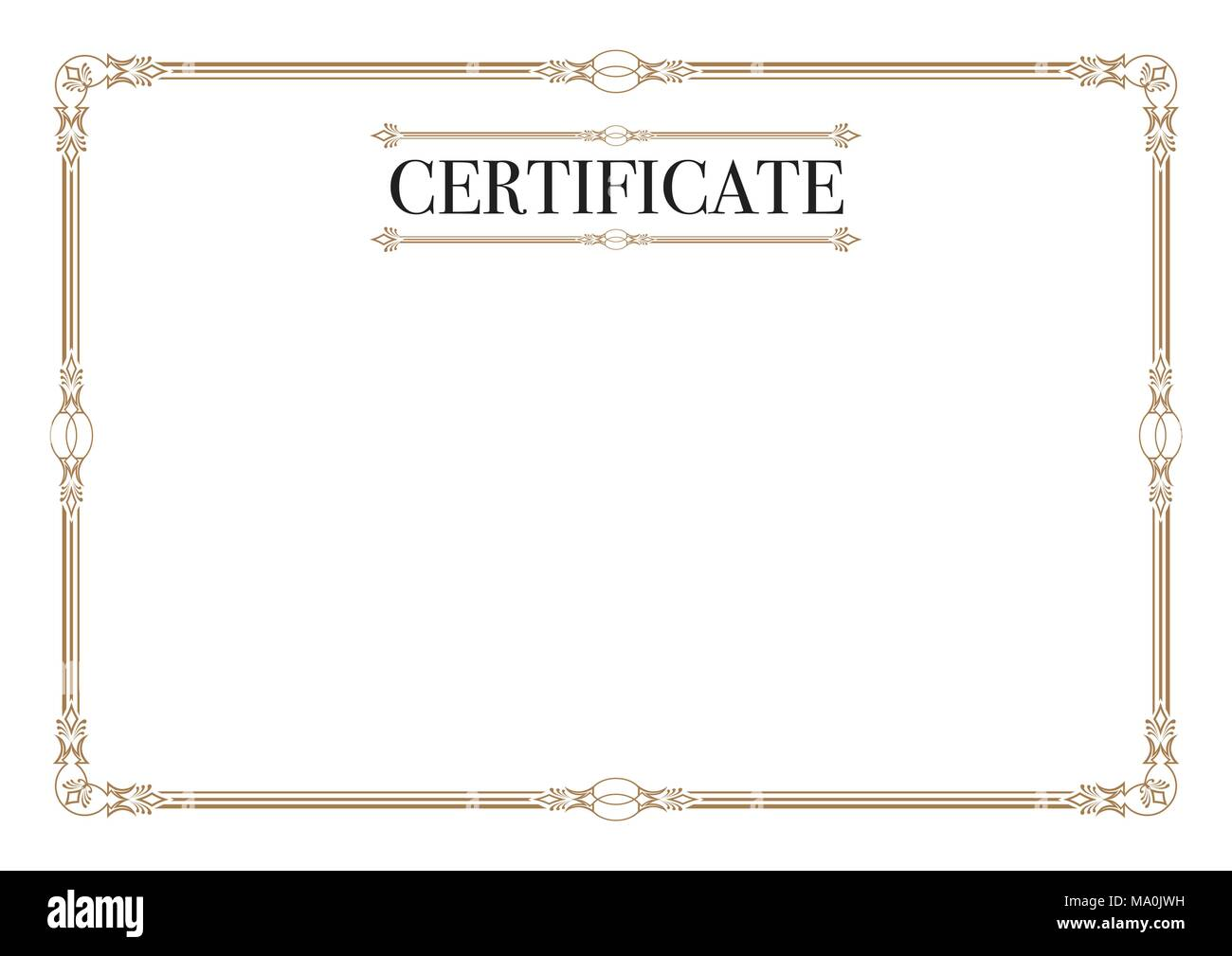 Certificate Border for Excellence Performance - Stock Image