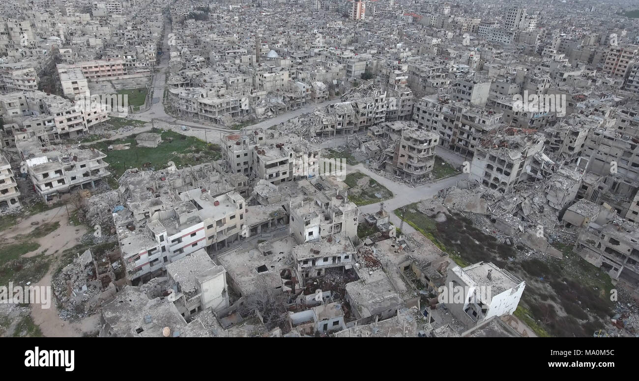 the city of Homs in Syria Stock Photo