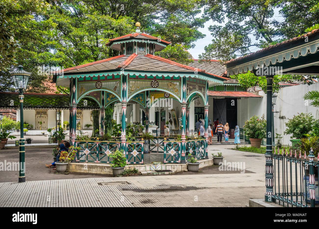 rotunda pavilion at the Kraton Ngayogyakarta Hadiningrat, the palace of the Yogyakarta Sultanate, Central Java, Indonesia - Stock Image