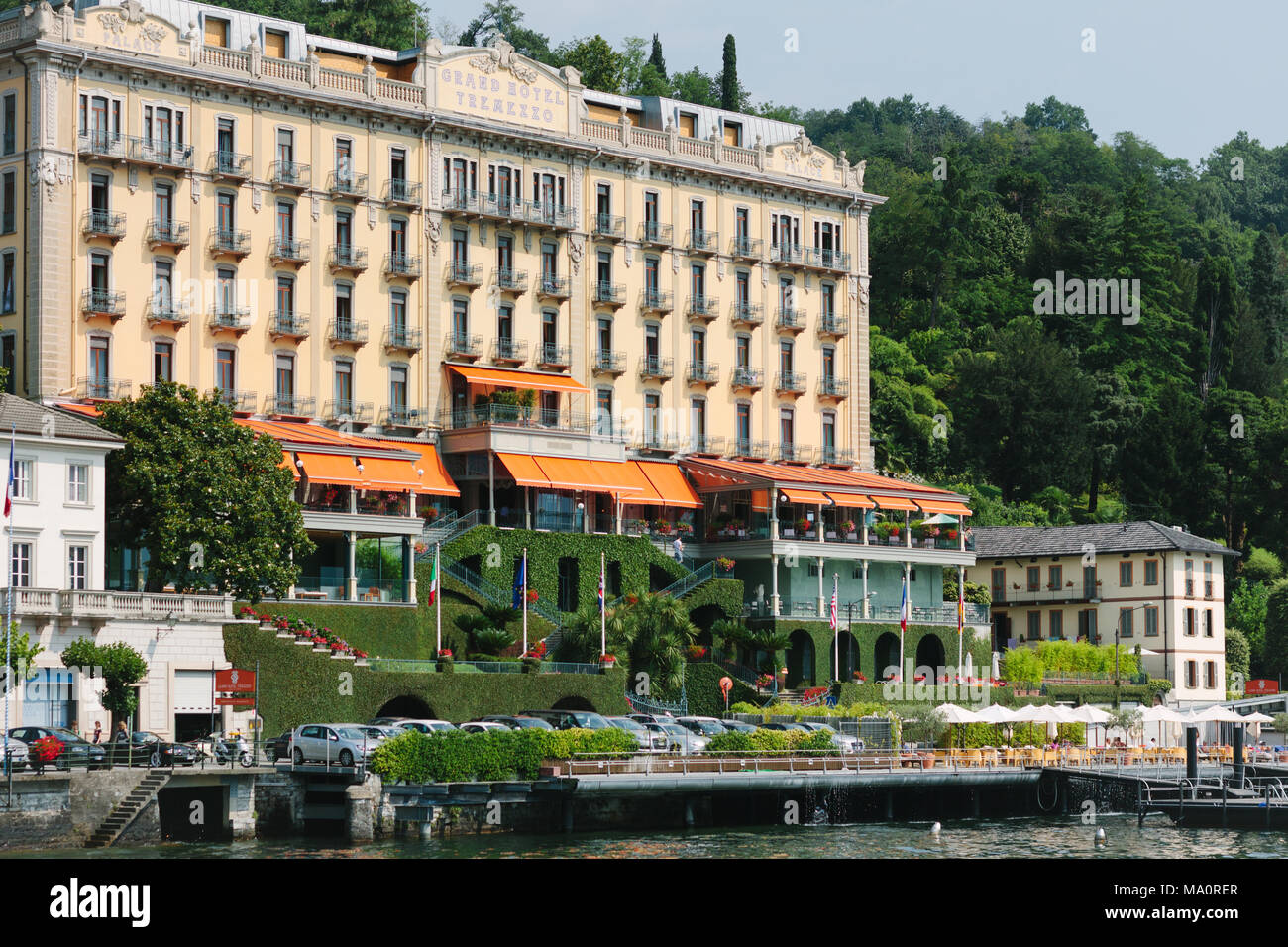 The Grand Hotel Tremezzo Viewed From Lake Como Italy Stock Photo Alamy