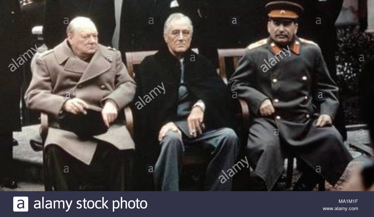The Yalta Conference Crimea February 1945 Prime Minister Rt Hon Winston Churchill MP President Of United States Mr Franklin Roosevelt