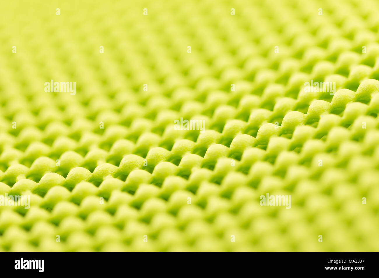Close up detail of yellow textured non skid mat Stock Photo