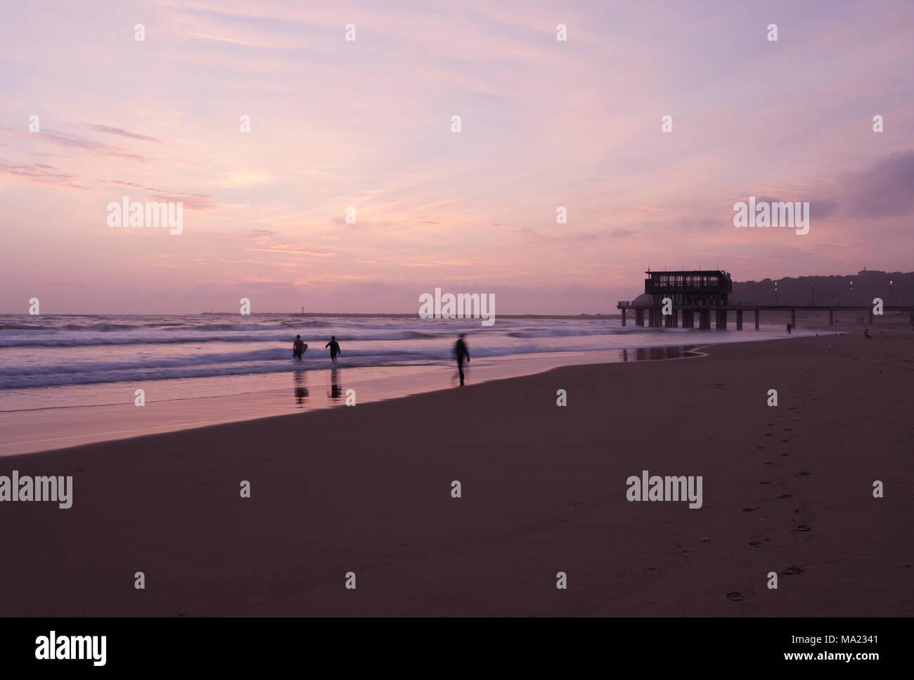 950502406 Durban, KwaZulu-Natal, South Africa, blur, people enjoying beach activities  at