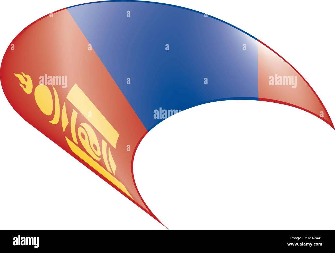 Mongolia flag, vector illustration - Stock Vector