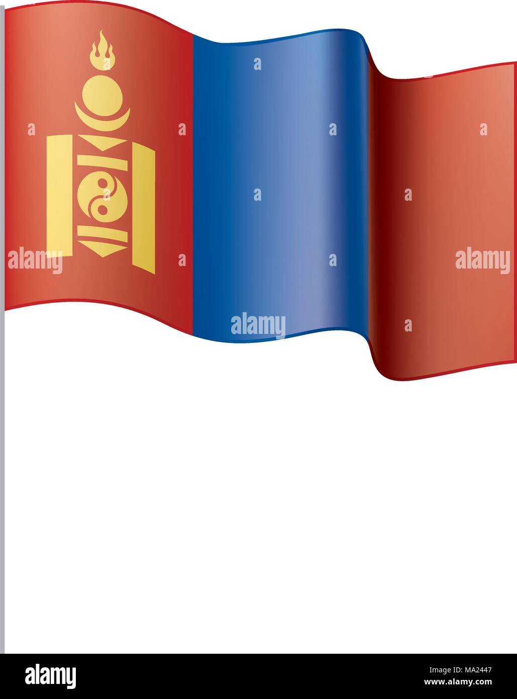 Mongolia flag, vector illustration - Stock Vector
