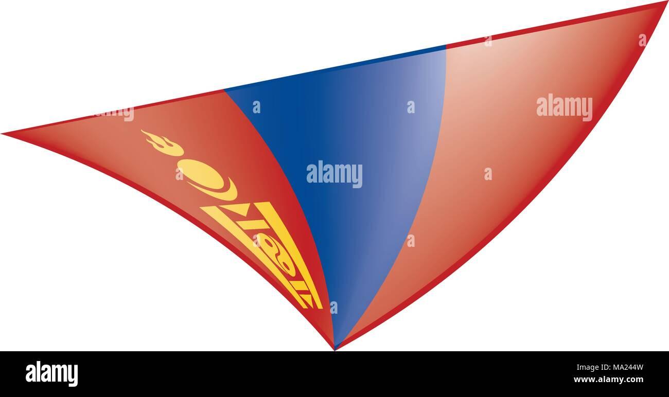 Mongolia flag, vector illustration Stock Vector