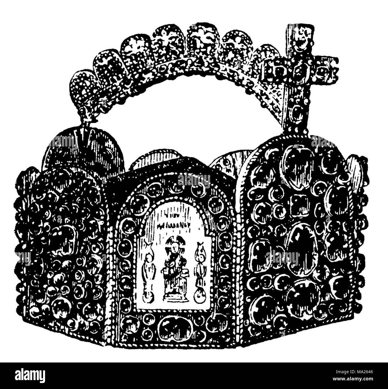 Imperial crown, crown of kings and emperors of the Holy Roman Empire since the High Middle Ages, 1891 - Stock Image