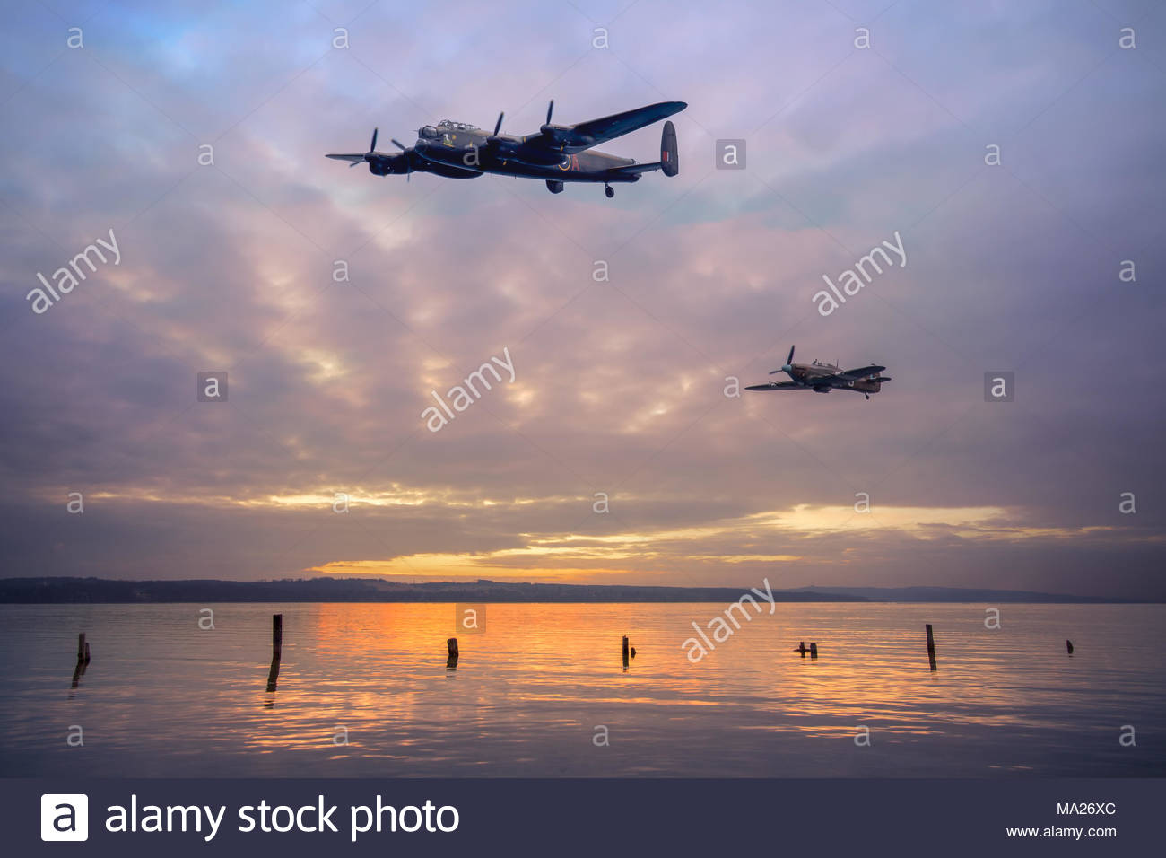 The Battle of Britain Memorial Flight - Stock Image