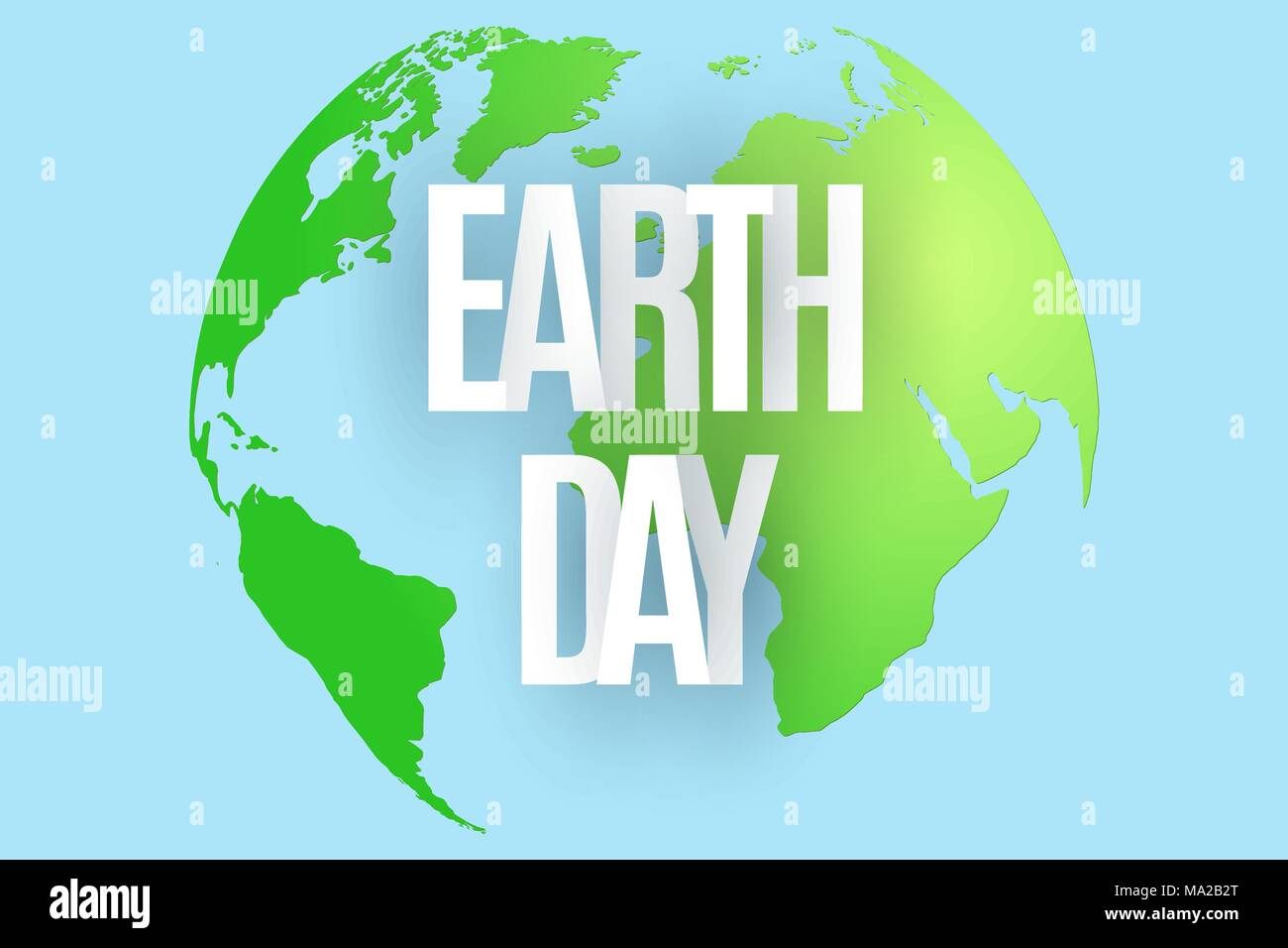 Happy earth day 22 april abstract green planet on blue background happy earth day 22 april abstract green planet on blue background text from paper letters map of the planet earth ecological holiday vector illu gumiabroncs Images