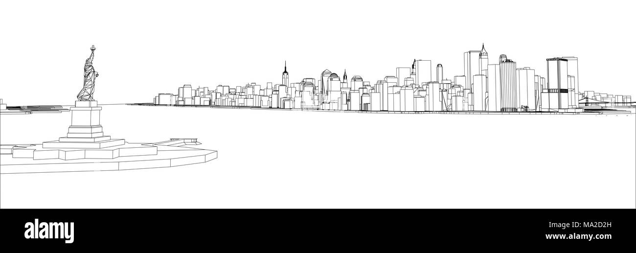 New York City Grid Geometric Black and White Stock Photos & Images ...