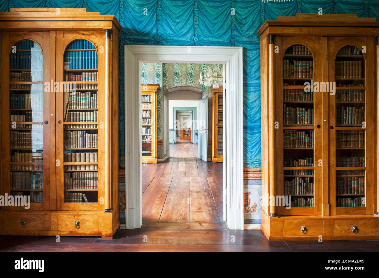 The Library At Schloss Corvey U2013 Biedermeier Book Cabinets ...