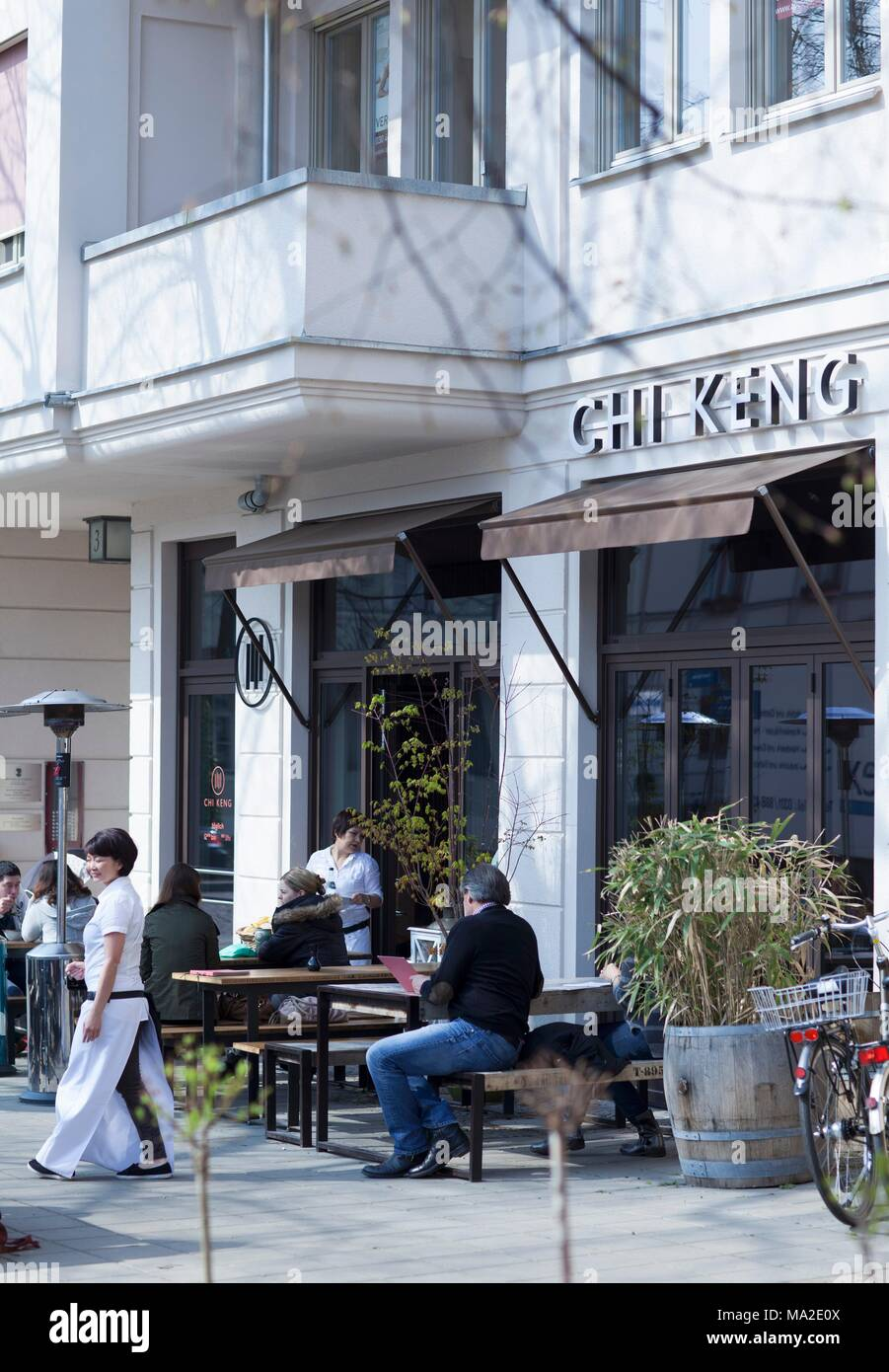 Cafe Heider in Prien on the Chiemsee Stock Photo