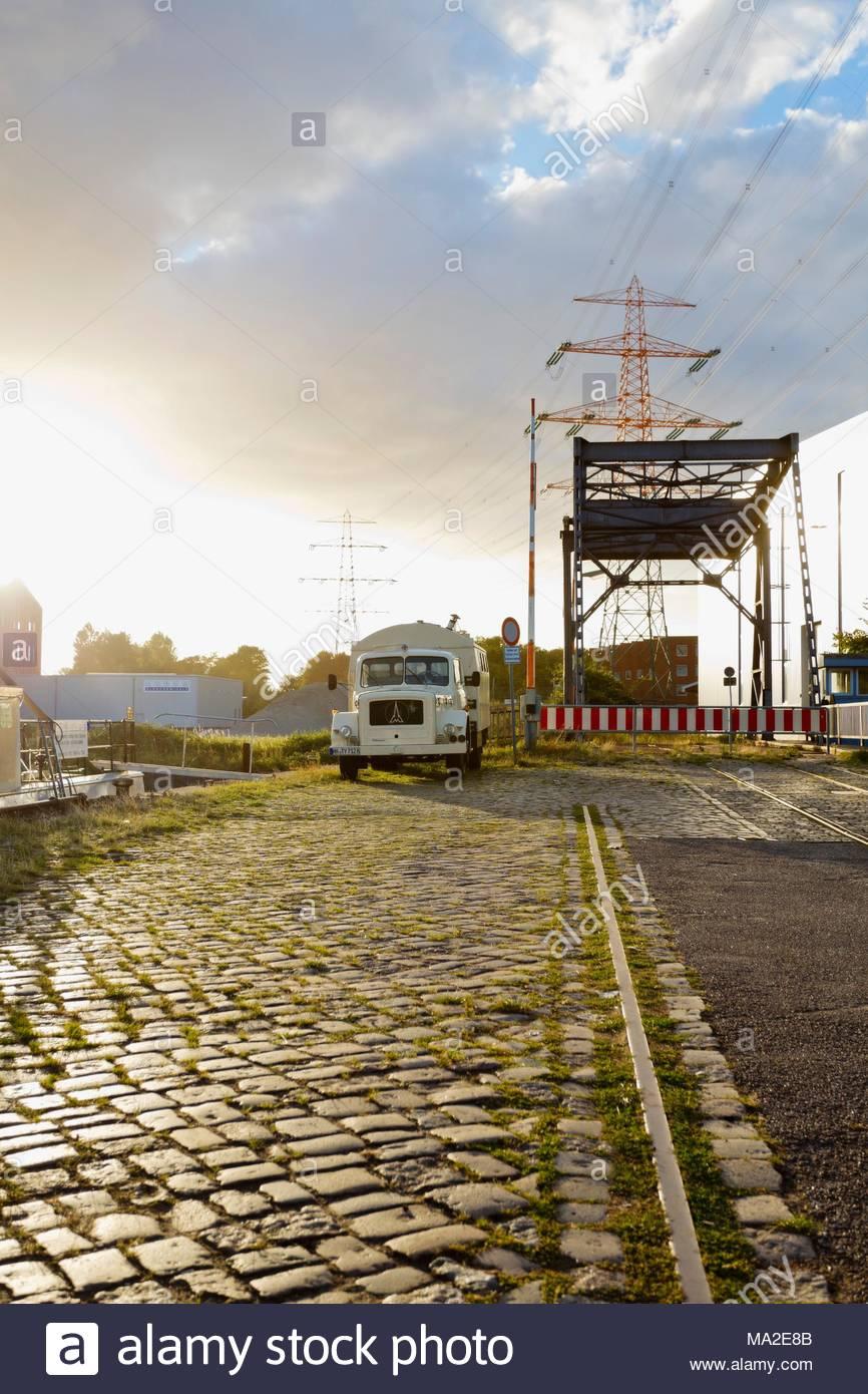Harburg inland harbour, southern Hamburg, Harburg - Stock Image