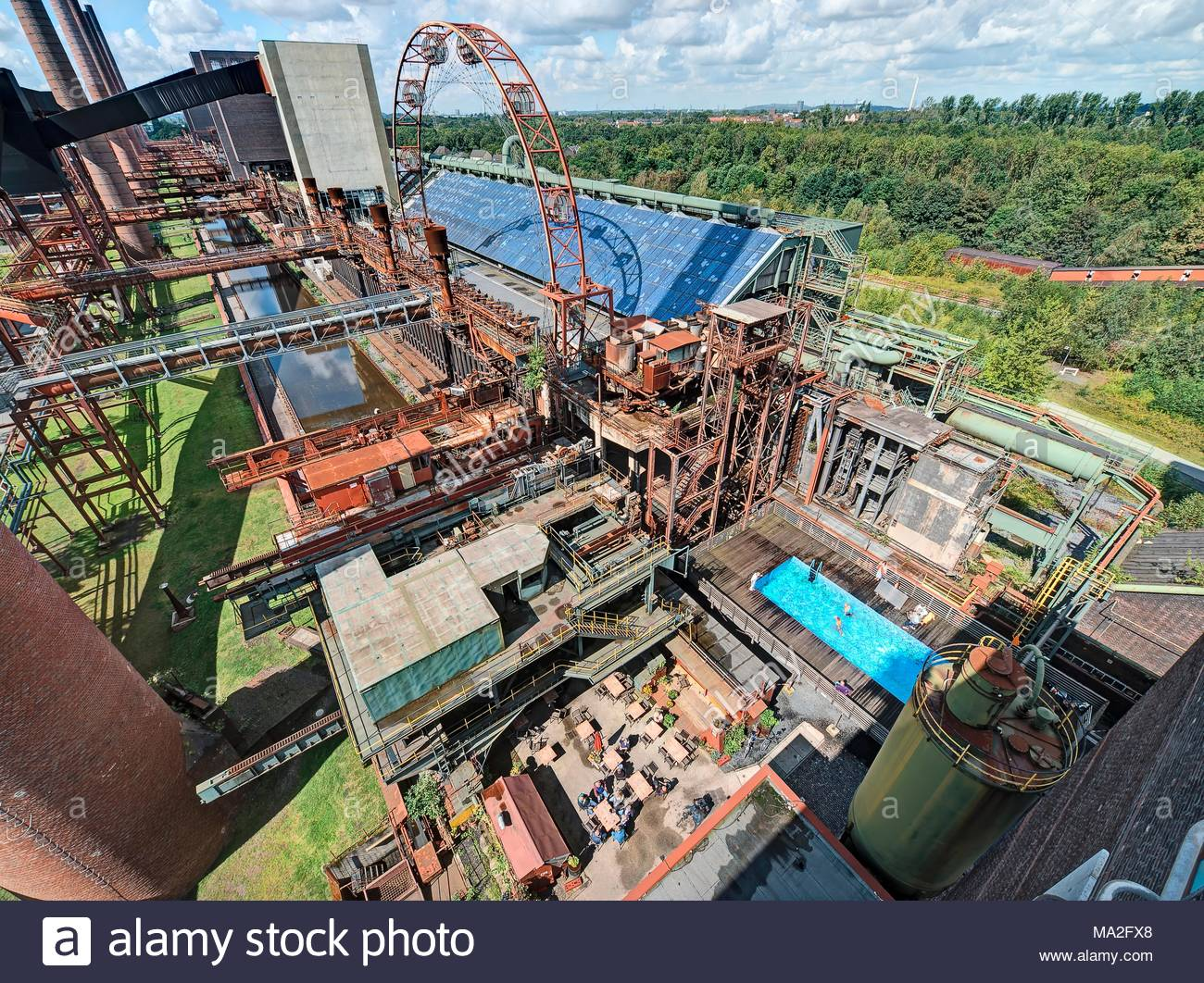 Zollverein coal min in Essen, Ruhr district, North Rhine Westphalia - Stock Image