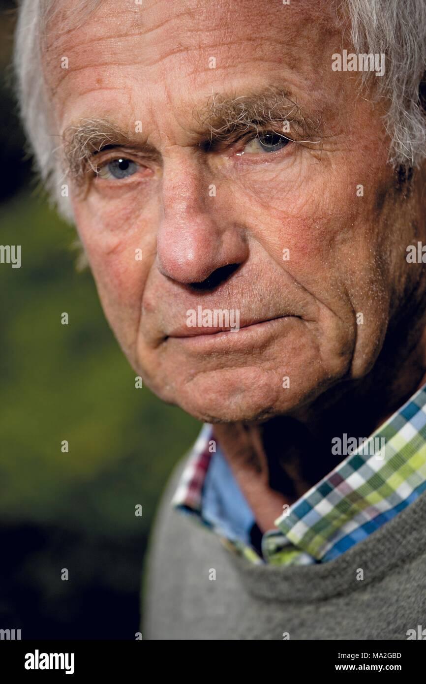 Surfing legend Uwe Behrens, Sylt - Stock Image