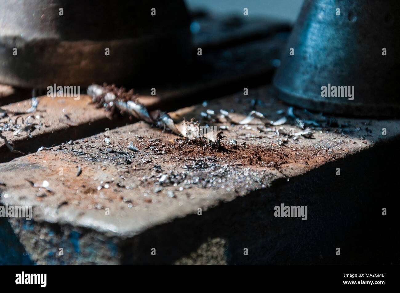 In 1895 the German engineering company combined the power of an electric motor with a manual drill to develop the world's very first power tool - Stock Image