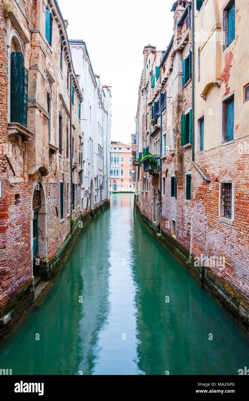 Venice is a city in northeastern Italy and capital of the Veneto region. It is situated across a group of 118 small islands that are separated by cana - Stock Image