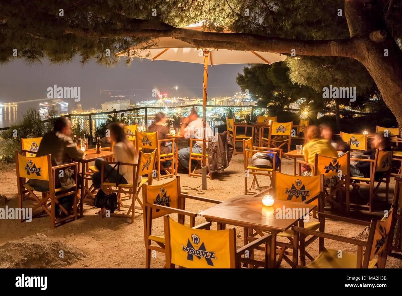 A Bar In Barcelona The Terrace Of La Caseta De Migdia In The
