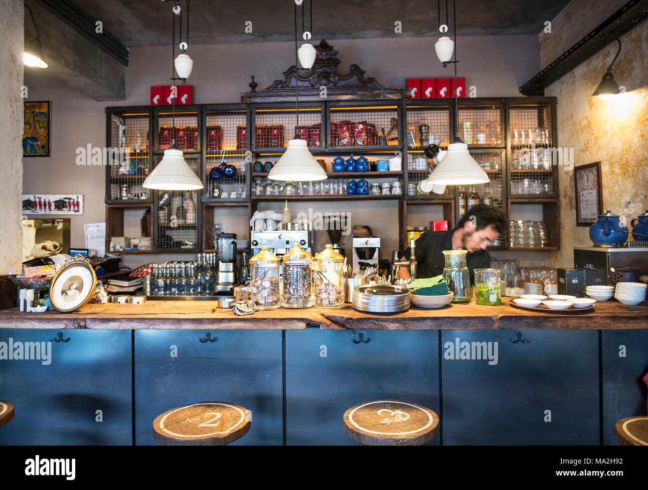 Cafee Nar Dükkan, Istanbul, Turkey - Stock Image