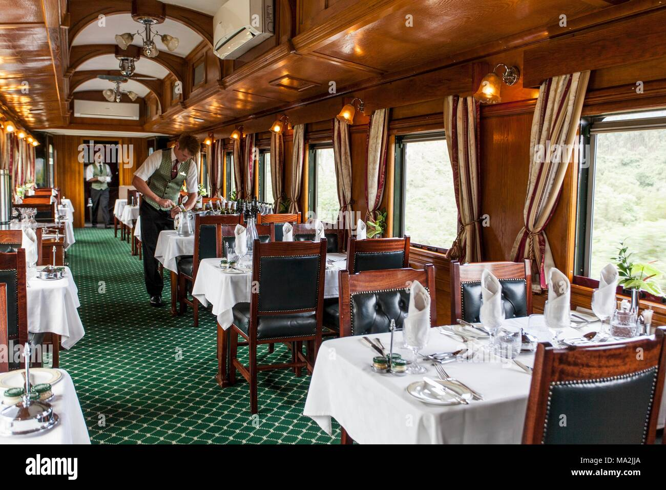 The Buffet Car In The Luxury Train Rovos Rail Journey From
