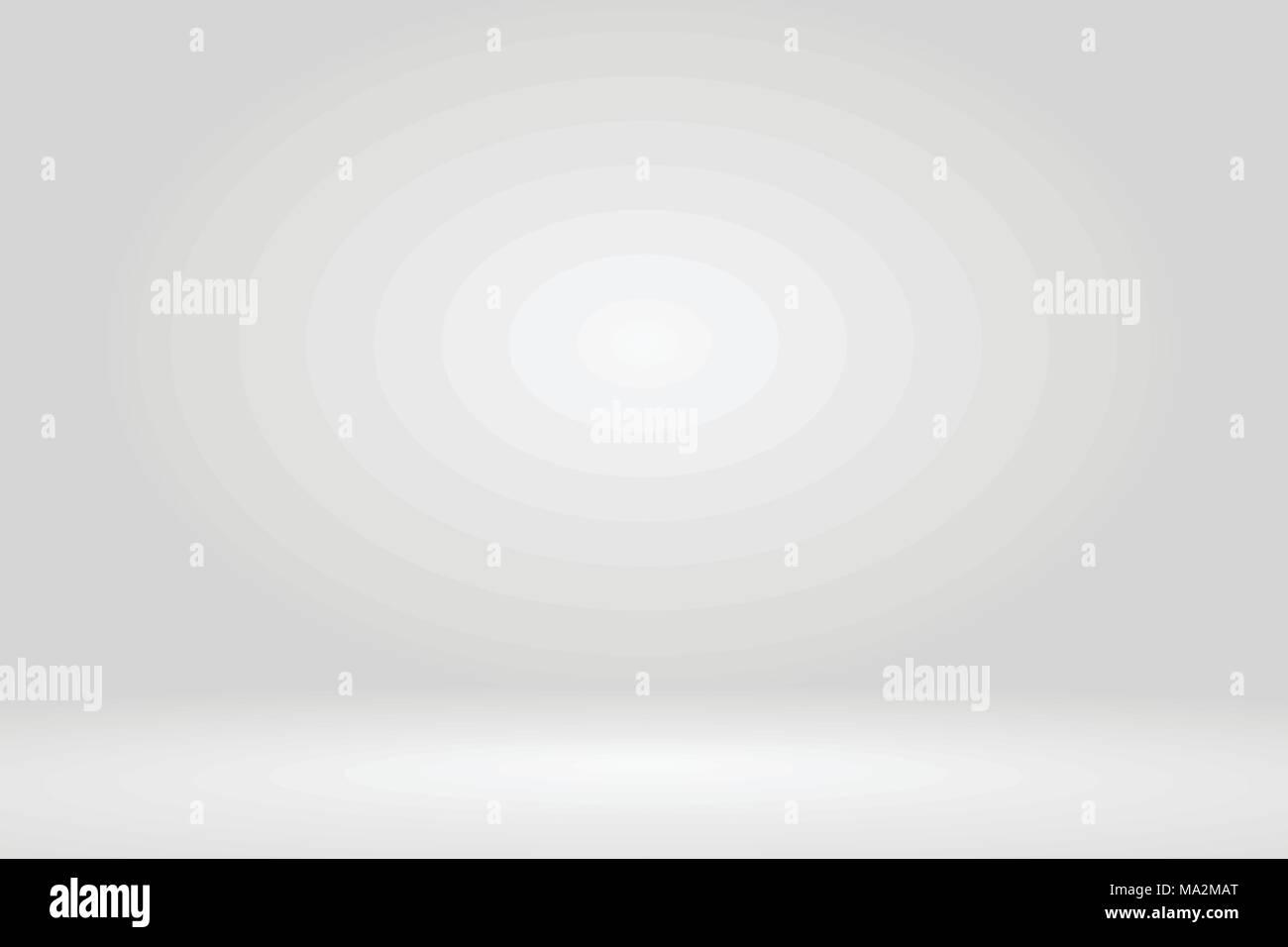 Bright grey studio room gradient background wall. Vector. - Stock Vector