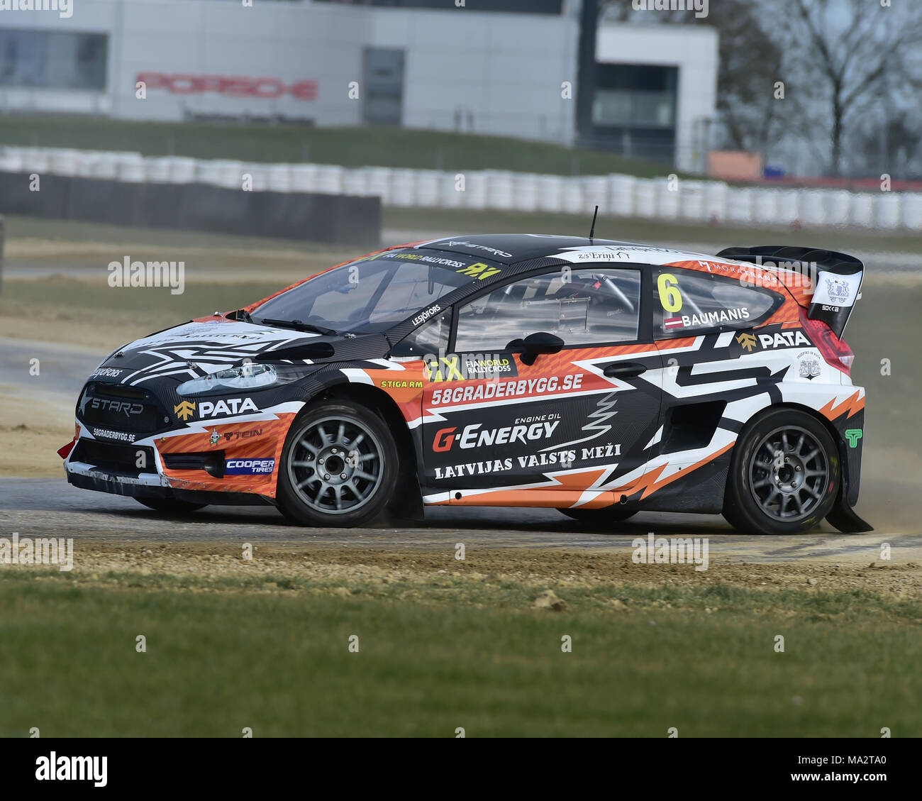 silverstone northamptonshire england 26th march 2018 janis baumanis ford fiesta rx for the. Black Bedroom Furniture Sets. Home Design Ideas