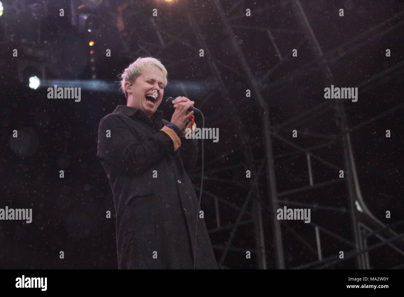 Nothing But Thieves play live at Truck Festival 2017 - Stock Image