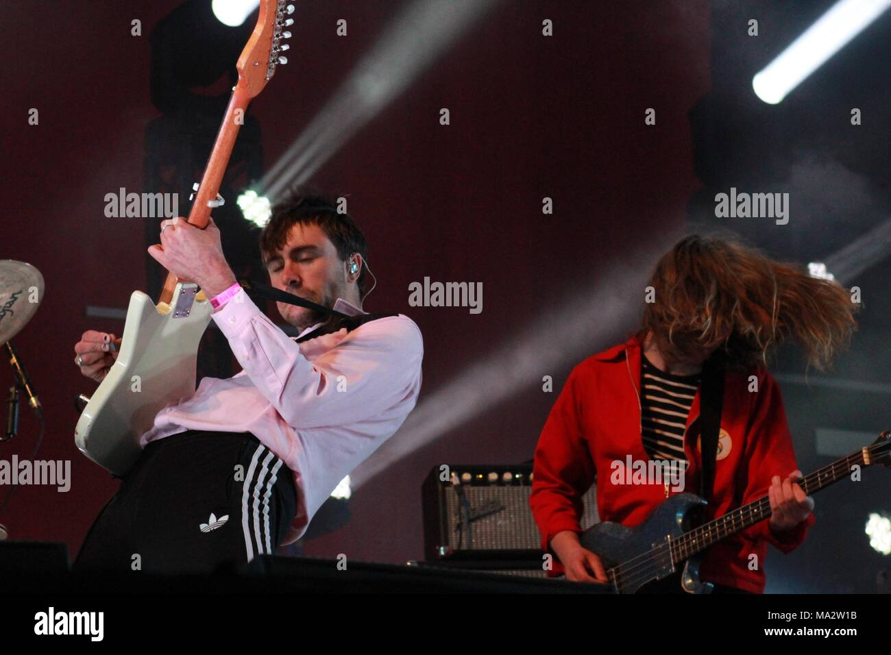 The Vaccines play live on the main stage at Truck Festival 2017 - Stock Image