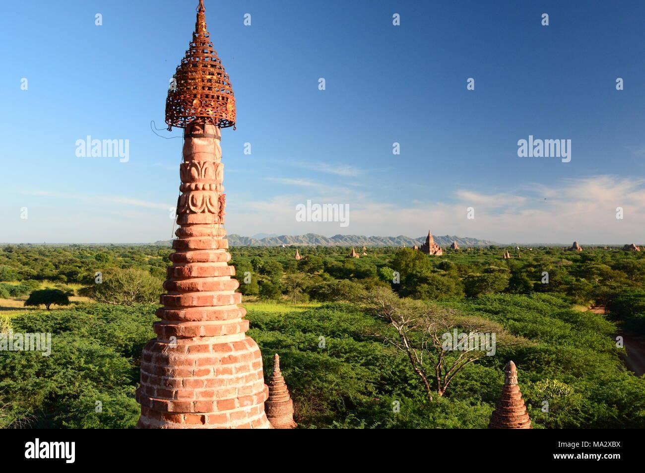 Panorama of the plain. Bagan. Mandalay region. Myanmar - Stock Image