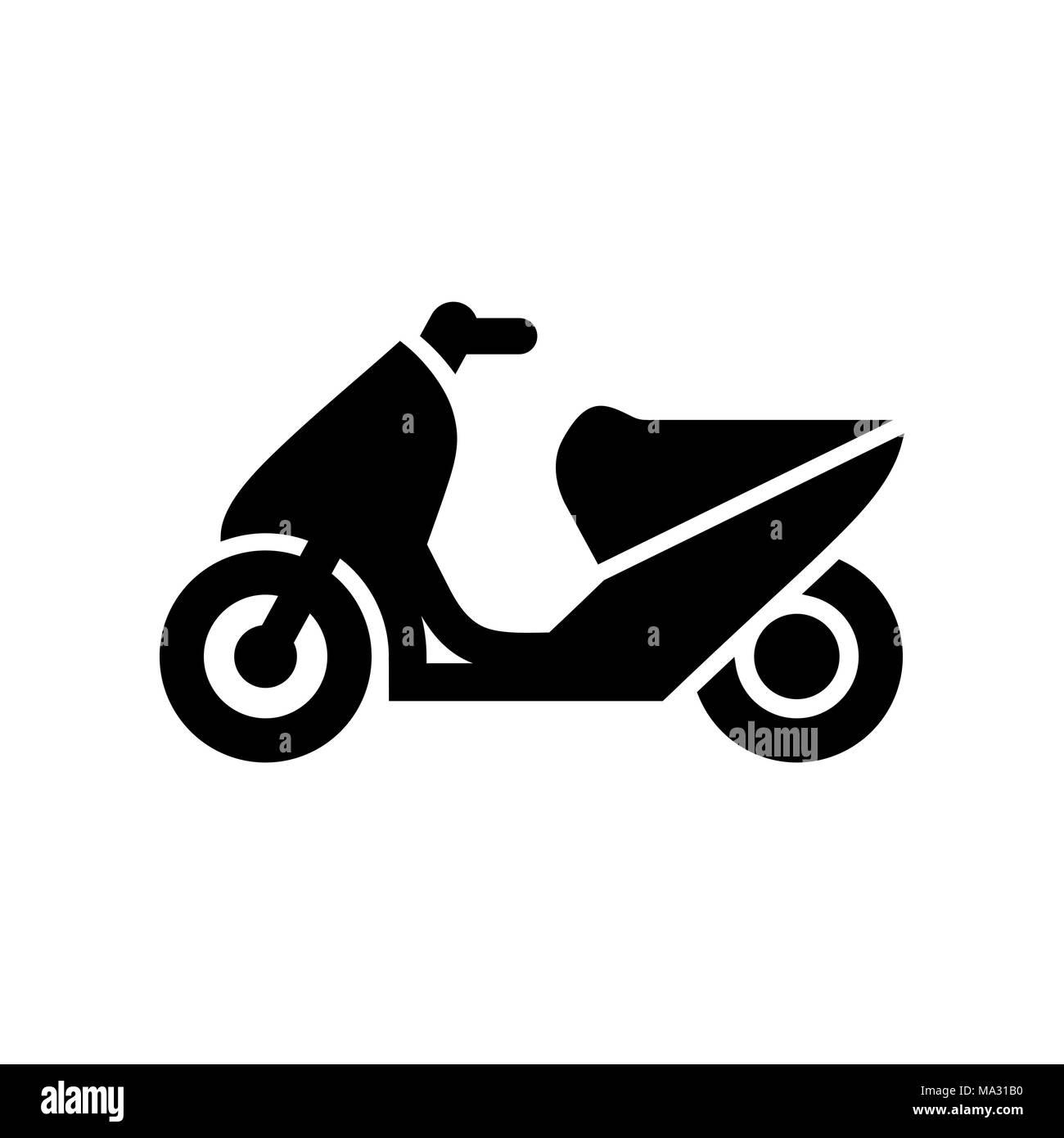 Motorcycle, motorbike icon simple flat vector illustration Stock ...