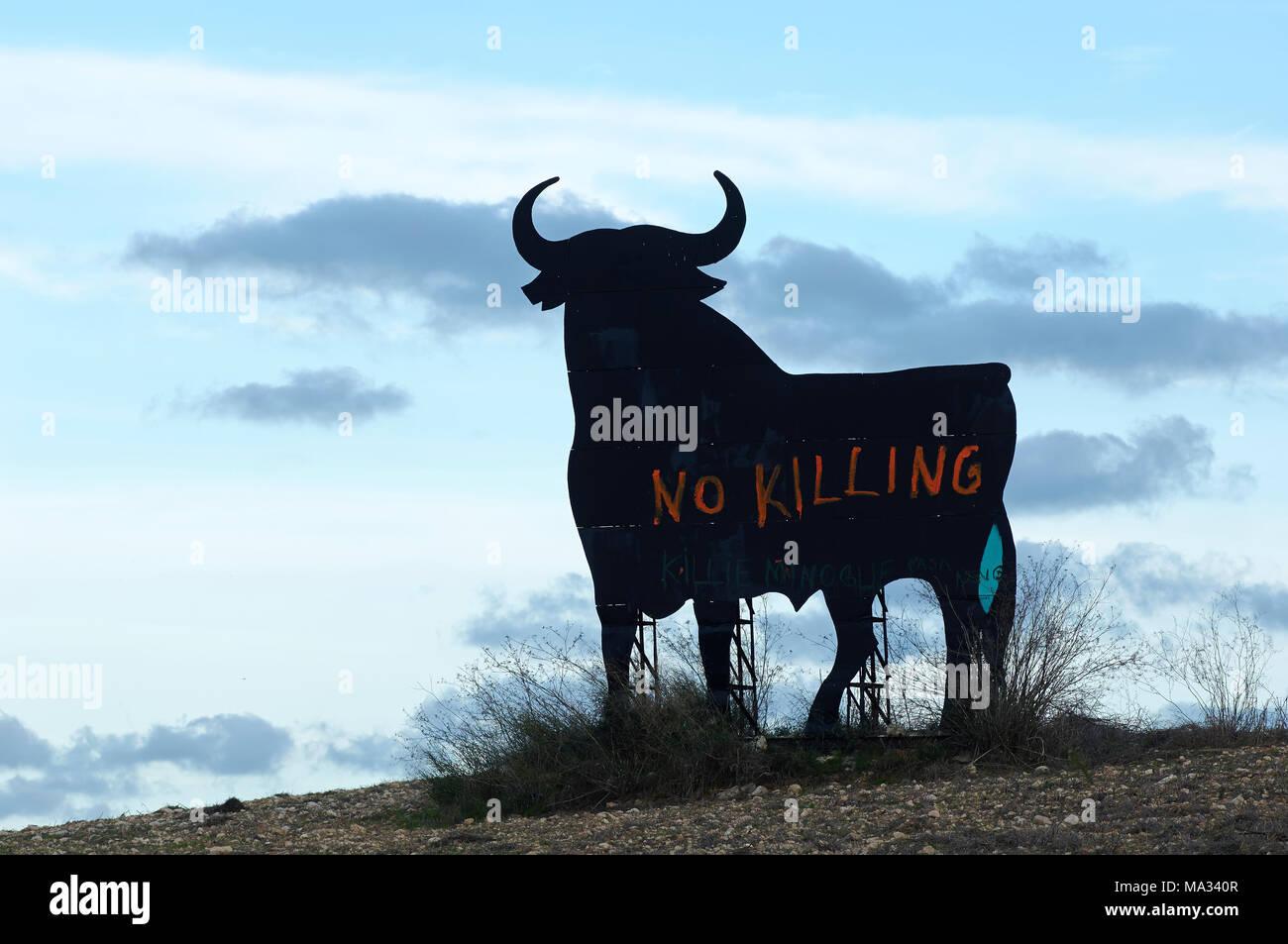 Stier auf Mallorca - Stock Image