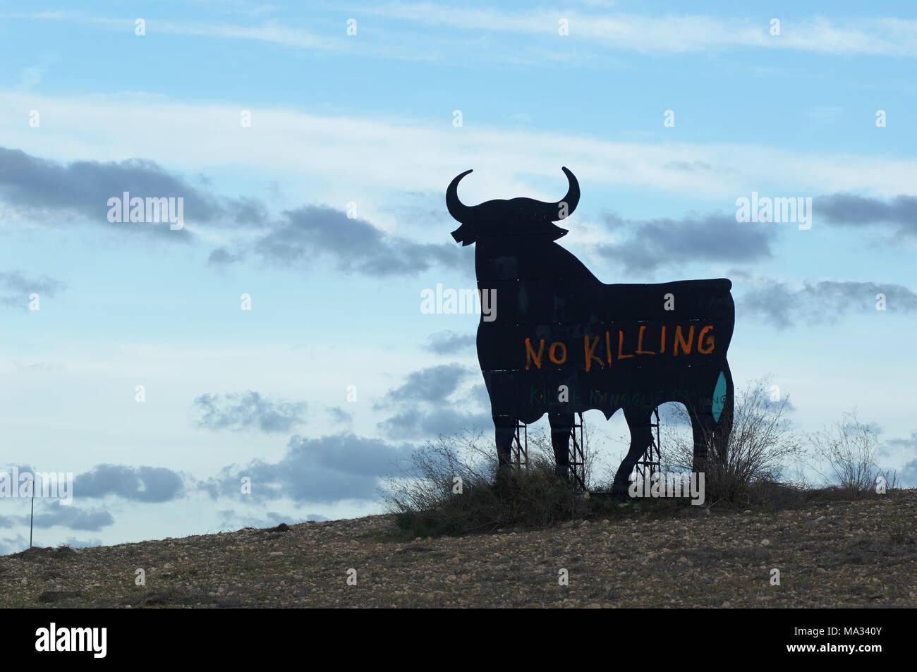 Stier auf Mallorca Stock Photo