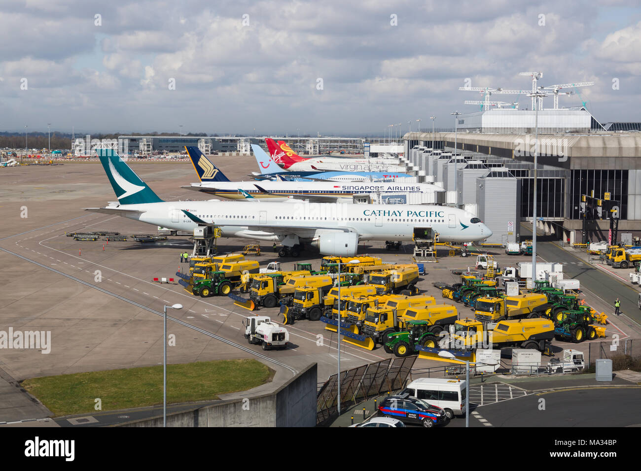 Uk England Manchester Airport Terminal Stock Photos Uk England
