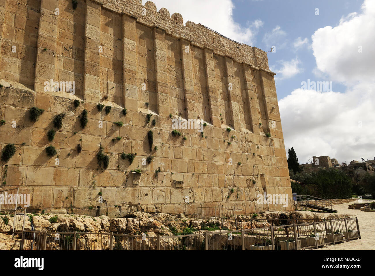 Outside the Tomb of the Patriarchs in Hebron - Stock Image
