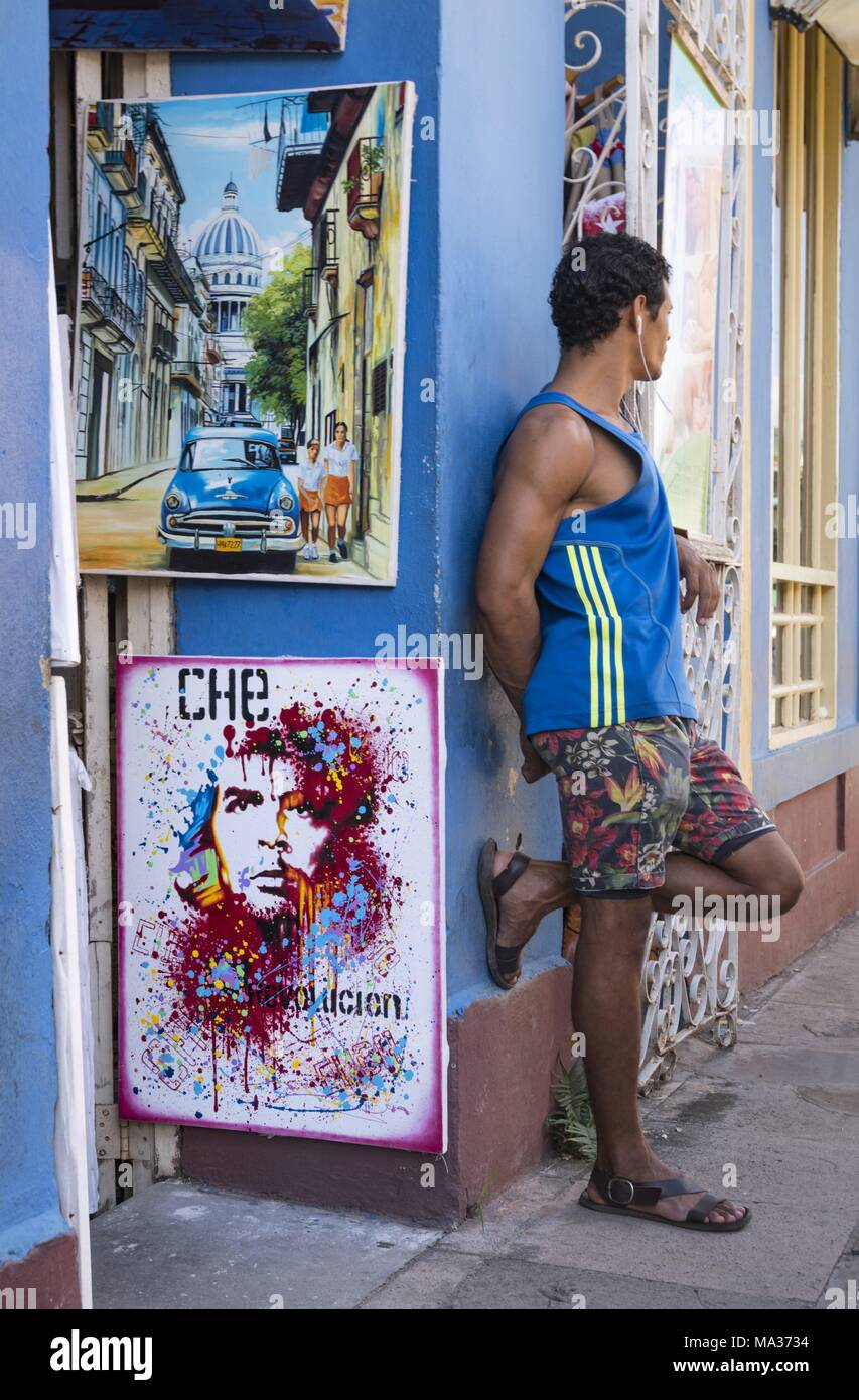 No one passes Che Guevara in Cuba. Everywhere in the country, the revolutionary leader is highly revered. (28 November 2017) | usage worldwide - Stock Image