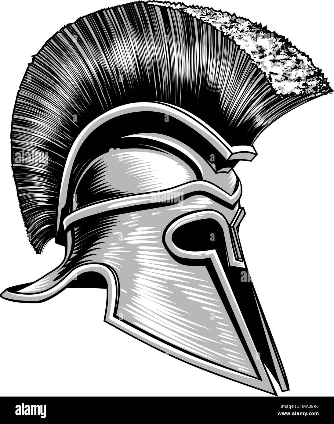 b51b4dd9d Spartan Helmet Black and White Stock Photos & Images - Alamy