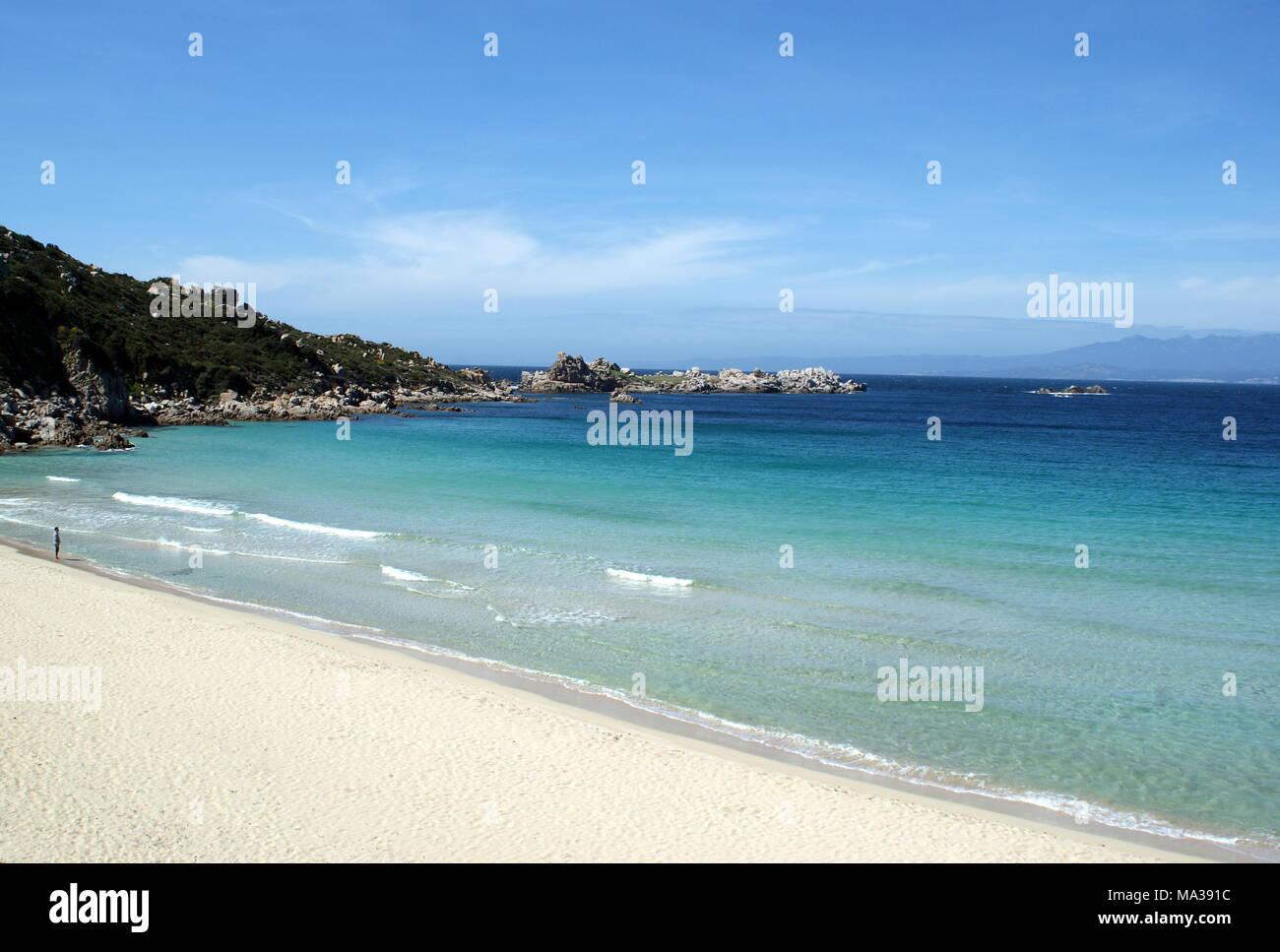 Rena Bianca beach, Santa Teresa Gallura, Sardinia, Italy - Stock Image