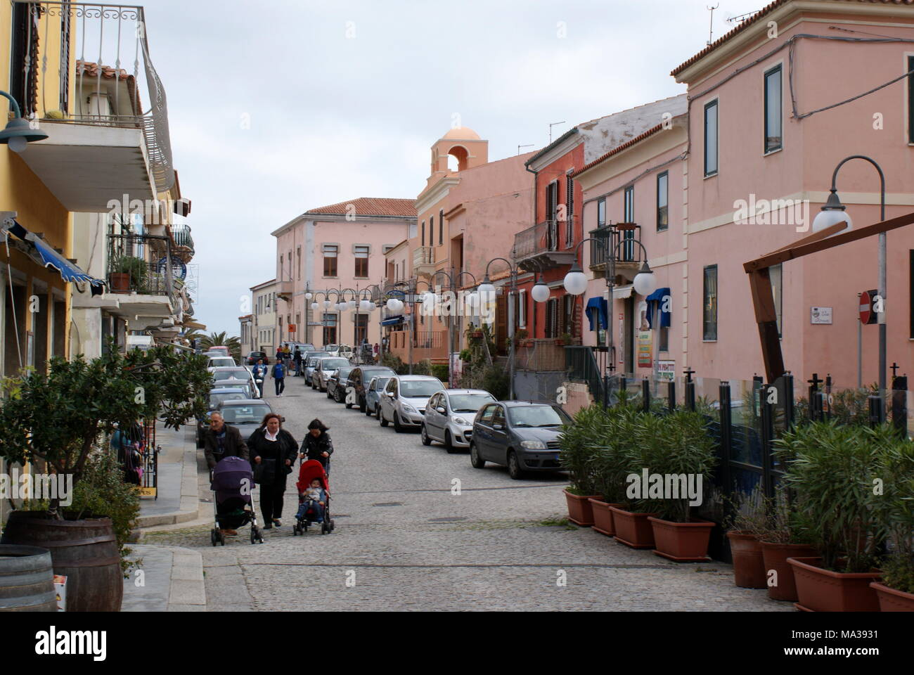 Street view, Santa Teresa Gallura, Sardinia, Italy Stock Photo