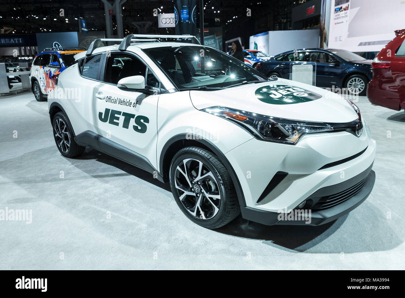 new york, united states. 28th mar, 2018. toyota sponsored car for