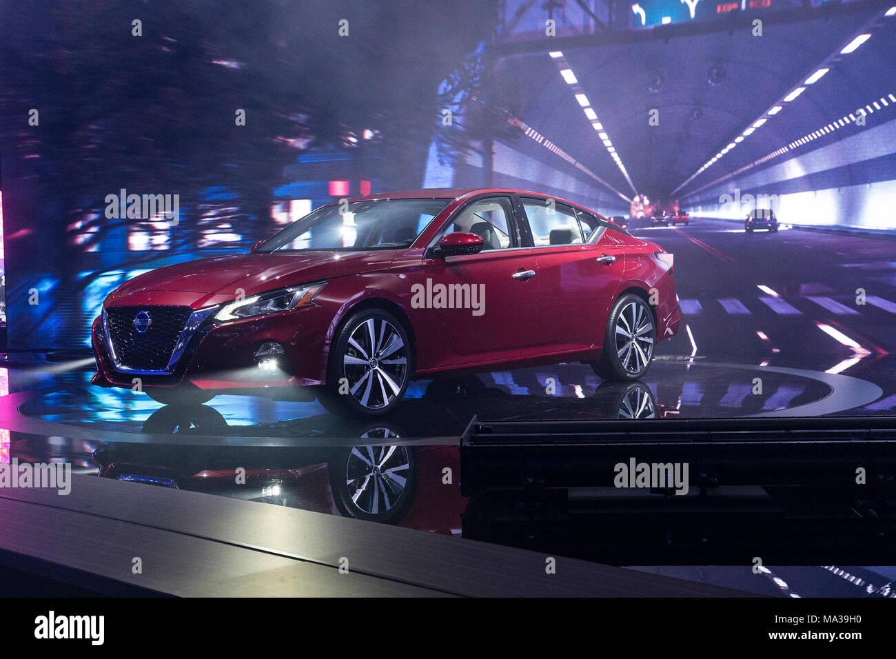 New York United States 28th Mar 2018 Nissan Altima
