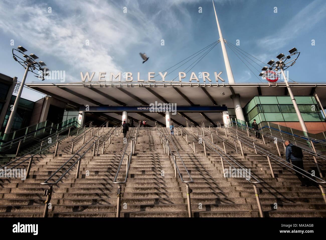 London Underground Tube Station: Wembley Park - Stock Image
