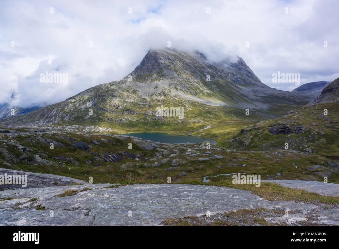Trollstigen tourist route - Stock Image