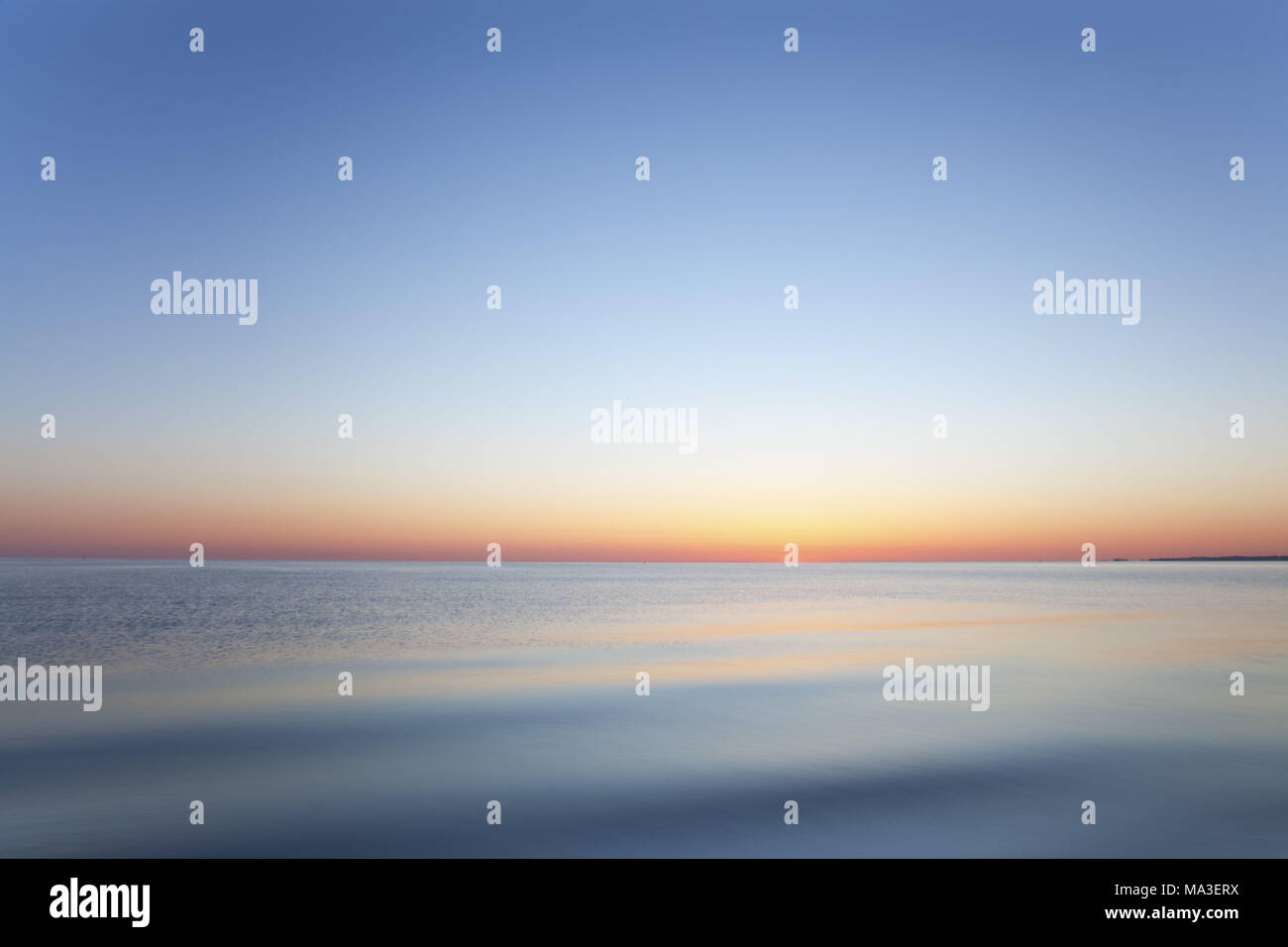 The Baltic Sea with sunrise, Schleswig - Holstein, North Germany, Germany, Stock Photo
