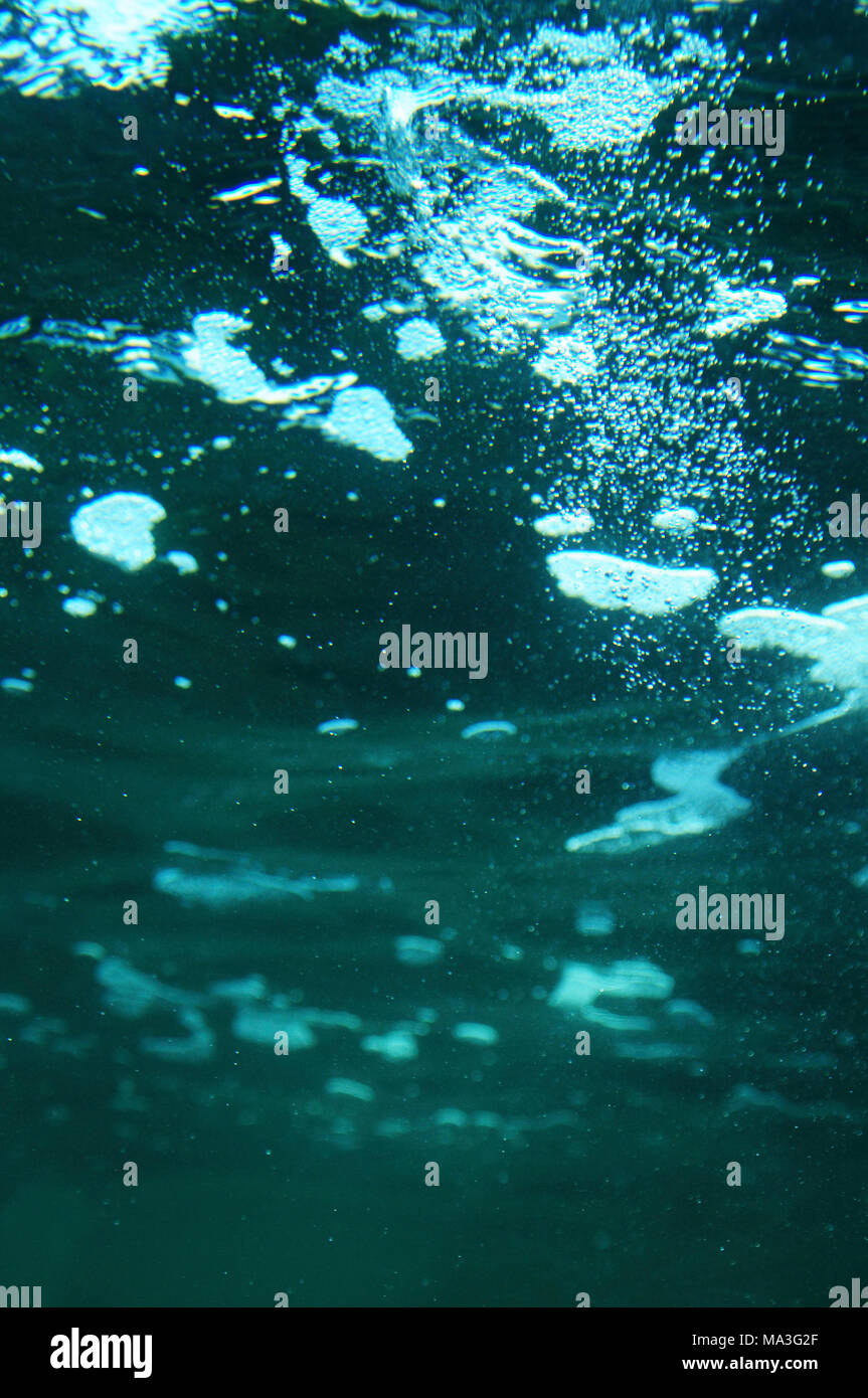 Water, wave, under water, sea, lake, - Stock Image