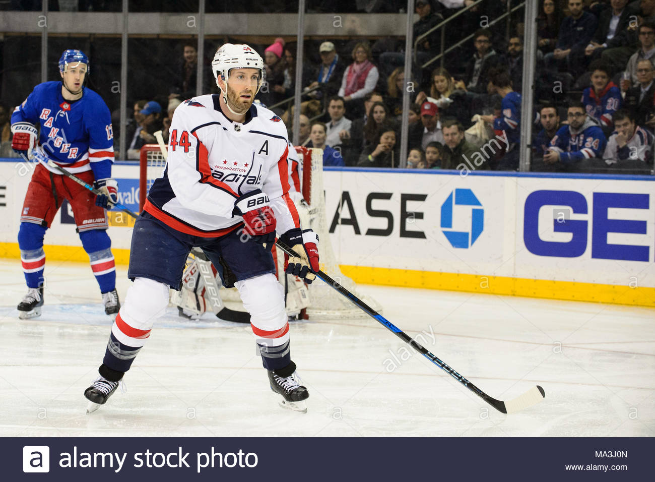 Washington Capitals defenseman Brooks Orpik (44) is in action during the  game between The New York Rangers and The Washington Capitals at Madison  Square ... a0085ab4287