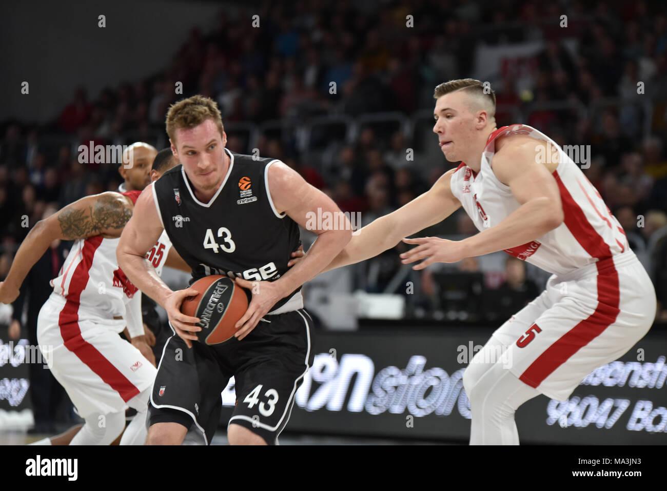 69719b31336 Germany , Bamberg, Brose Arena - 29 March 2018 - Basketball, Euro League -
