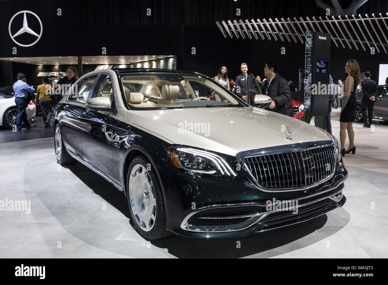 New york ny usa 28th mar 2018 the maybach s650 by for Mercedes benz new york ny