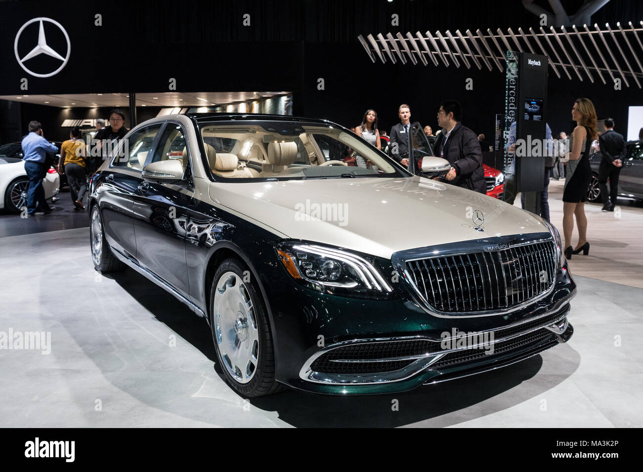 The Maybach S650 By Mercedes Benz At The New York International Auto Show  In New York City. The New York International Motor Show Is Being Hosted In  The ...