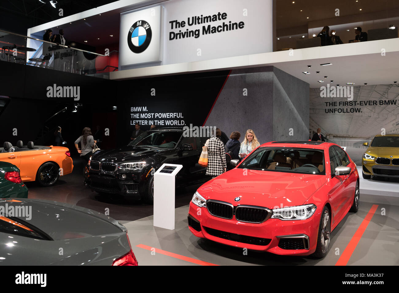 Bmw New York >> The Bmw Display At The New York International Auto Show In